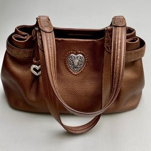 Brighton brown medium leather bag.